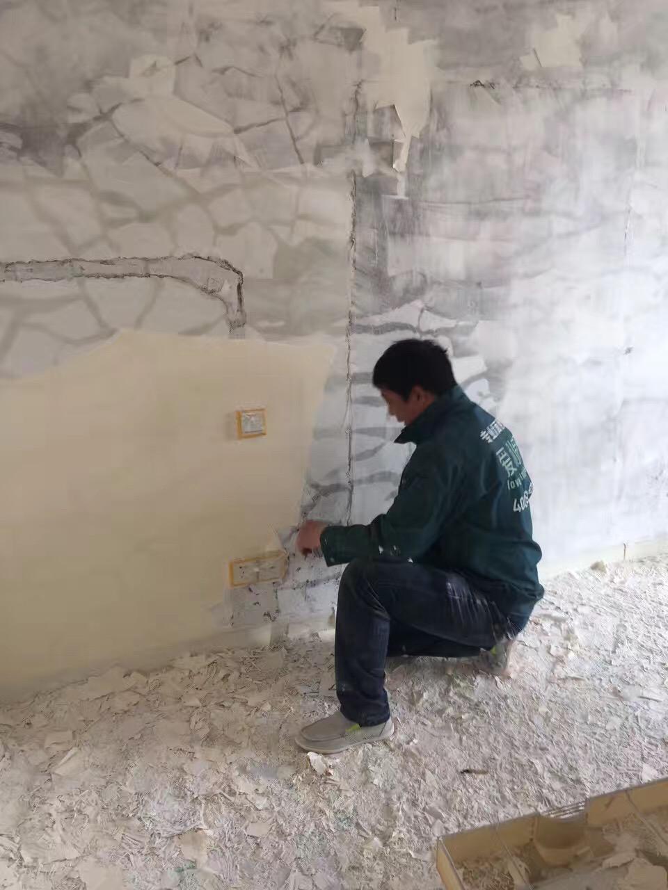 于女士 万邦都市花园  100㎡ 墙面问题:起皮、开裂 施工阶段:铲墙皮